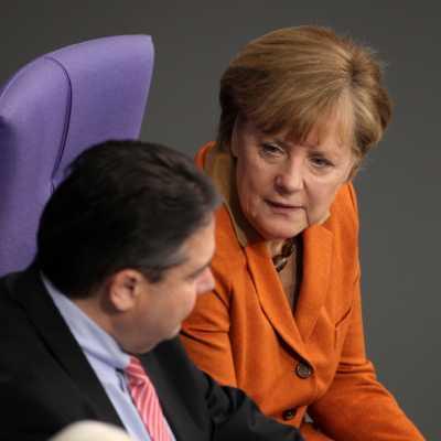 Bild: Angela Merkel und Sigmar Gabriel, über dts Nachrichtenagentur