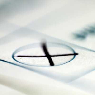 Bild: Kreuz auf Stimmzettel, über dts Nachrichtenagentur