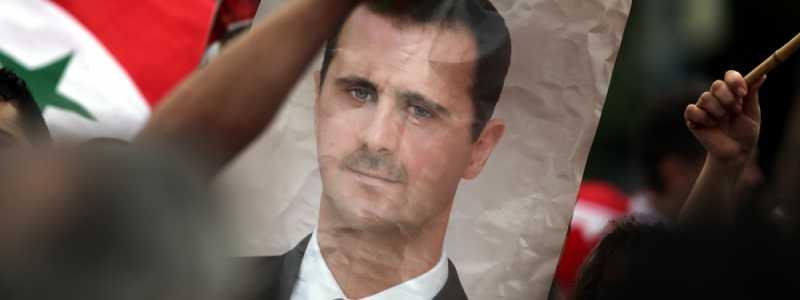 Bild: Bild von Baschar al-Assad auf einer Syrien-Demonstration, über dts Nachrichtenagentur