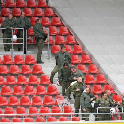 Bild: Polizei im Fußball-Stadion, über dts Nachrichtenagentur
