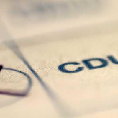 Bild: CDU auf Stimmzettel, über dts Nachrichtenagentur