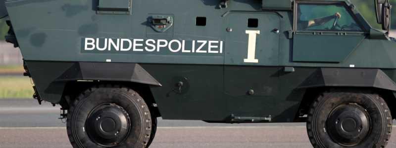 Bild: Panzer der Bundespolizei, über dts Nachrichtenagentur