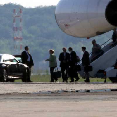 Bild: Angela Merkel landet mit der Flugbereitschaft, über dts Nachrichtenagentur