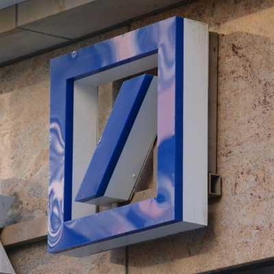 Bild: Deutsche Bank-Logo, über dts Nachrichtenagentur