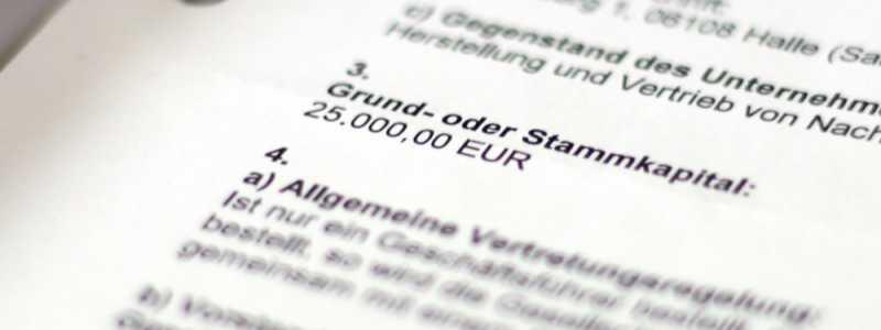 Bild: Gewerbeanmeldung einer GmbH, über dts Nachrichtenagentur