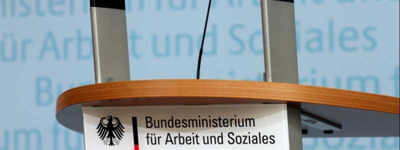 Bild: Rednerpult im Bundesministerium für Arbeit und Soziales, über dts Nachrichtenagentur