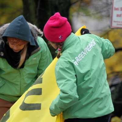 Bild: Greenpeace-Protest, über dts Nachrichtenagentur