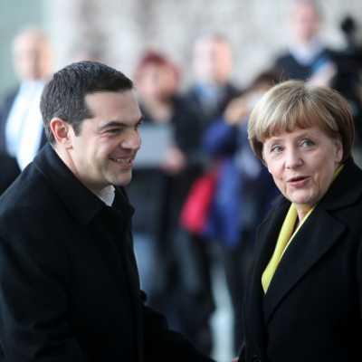 Bild: Alexis Tsipras und Angela Merkel, über dts Nachrichtenagentur