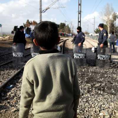 Bild: Flüchtlingsjunge in Griechenland, über dts Nachrichtenagentur