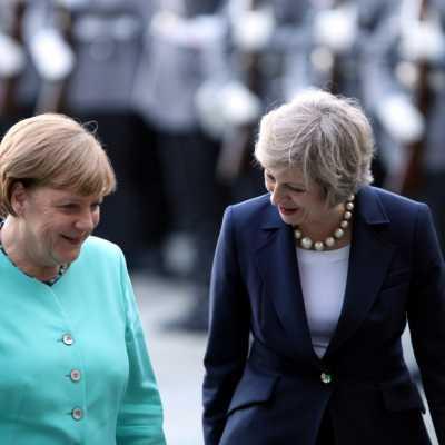 Bild: Theresa May und Angela Merkel, über dts Nachrichtenagentur