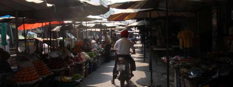 Bild: Straßenmarkt in Thailand, über dts Nachrichtenagentur