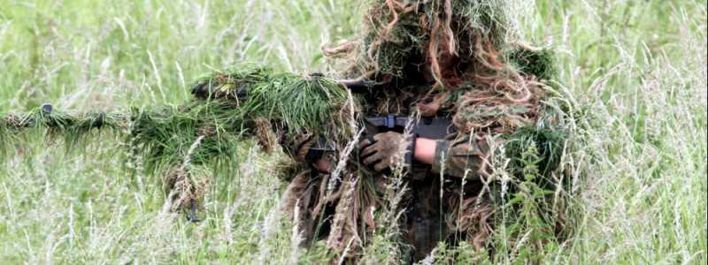 Bild: Getarnter Soldat, über dts Nachrichtenagentur