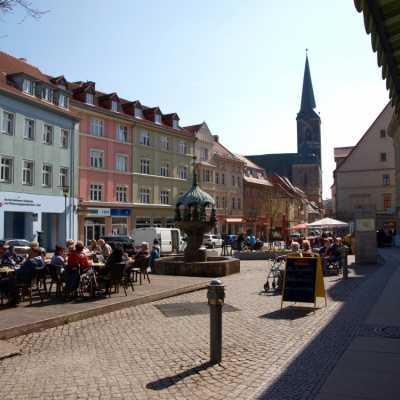Bild: Marktplatz einer Kleinstadt (Aschersleben), über dts Nachrichtenagentur