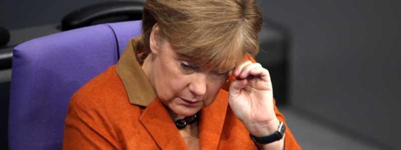 Bild: Angela Merkel reibt ihr Auge, über dts Nachrichtenagentur