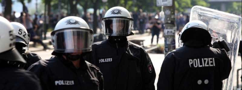 Bild: Polizei bei Anti-G20-Protest in Hamburg, über dts Nachrichtenagentur