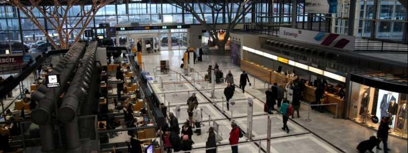 Bild: Abfertigungshalle Flughafen Stuttgart, über dts Nachrichtenagentur