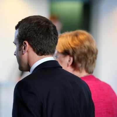 Bild: Emmanuel Macron und Angela Merkel, über dts Nachrichtenagentur