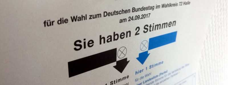 Bild: Stimmzettel für Bundestagswahl am 24.09.2017, über dts Nachrichtenagentur