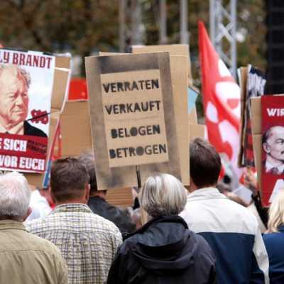 Bild: Protest von AfD-Sympathisanten, über dts Nachrichtenagentur