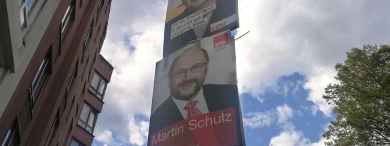 Bild: Wahlplakate von SPD und CDU, über dts Nachrichtenagentur