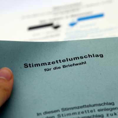 Bild: Stimmzettelumschlag für die Briefwahl, über dts Nachrichtenagentur