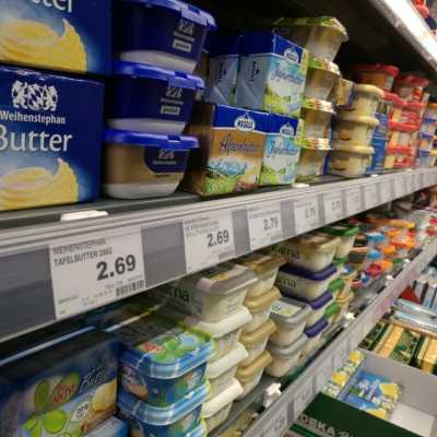 Bild: Butter in einem Supermarkt, über dts Nachrichtenagentur