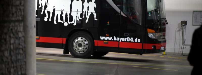 Bild: Mannschaftsbus von Bayer Leverkusen, über dts Nachrichtenagentur