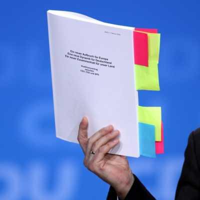 Bild: Koalitionsvertrag, über dts Nachrichtenagentur