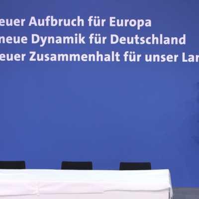 Bild: Koalitionsvertrag 2018-2021 wird unterschrieben, über dts Nachrichtenagentur