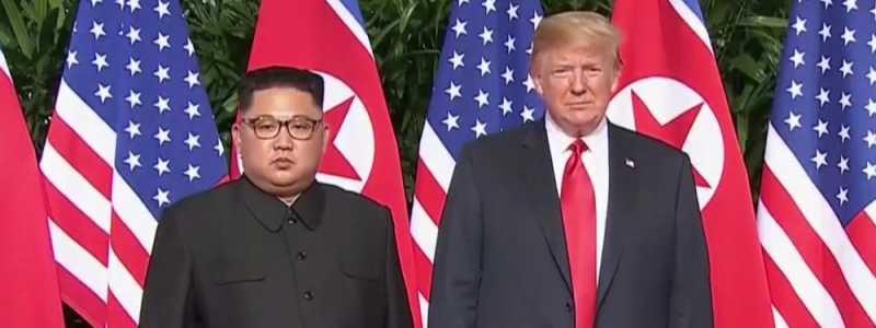 Bild: Kim und Trump am 12.06.2018, über dts Nachrichtenagentur