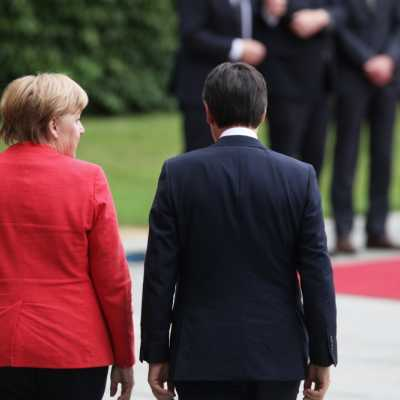 Bild: Angela Merkel und Giuseppe Conte, über dts Nachrichtenagentur