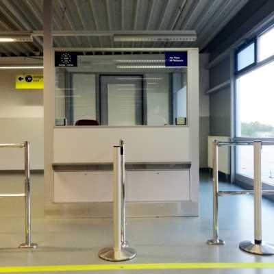 Bild: Kontrolle am Flughafen, über dts Nachrichtenagentur