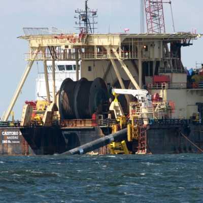 Bild: Castoro 10 beim Bau von Nord Stream 2, über dts Nachrichtenagentur