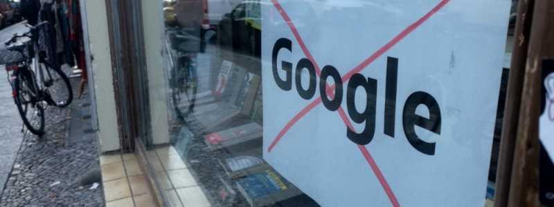 Bild: Protest gegen Google, über dts Nachrichtenagentur