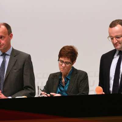 Bild: Friedrich Merz, Annegret Kramp-Karrenbauer und Jens Spahn, über dts Nachrichtenagentur
