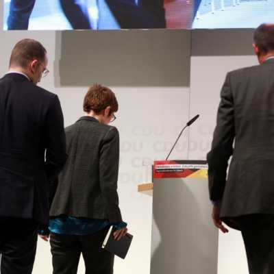 Bild: Jens Spahn, Annegret Kramp-Karrenbauer und Friedrich Merz, über dts Nachrichtenagentur