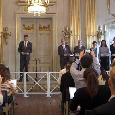 Bild: Bekanntgabe Literatur-Nobelpreis am 10.10.2019, über dts Nachrichtenagentur