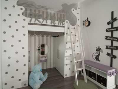 Abbildung 7:Ein Hochbett bietet viel Platz für die Gestaltung des darunter liegenden Raumes.